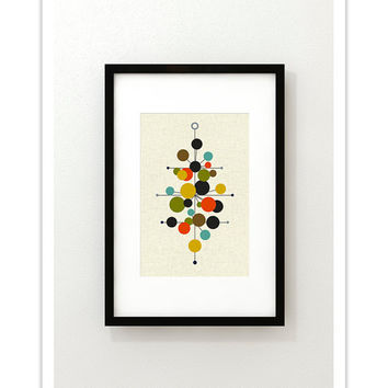 RADIATE - Giclee Print - Mid Century Modern Danish Modern Minimalist Cubist Modernist Abstract Eames