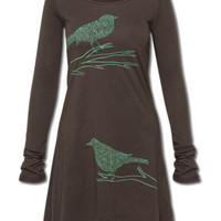 NEW! Jazzy Birds Long Sleeve Tunic Top: Soul-Flower Online Store