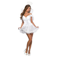 Secret Wishes Womens Heaven Sent Halloween Party Angel Costume