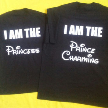 Free Shipping For US Disney Princess and Prince Couples Shirt