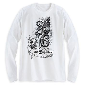 Licensed cool Sorcerer Mickey Mouse Long Sleeve Tee for Adults Walt Disney World Store 2016