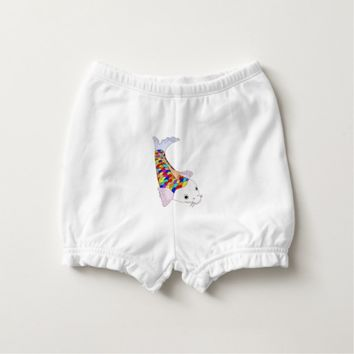 Colorful fish diaper cover