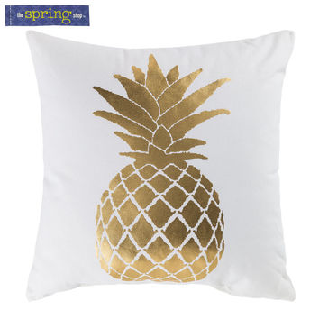 Gold & White Pineapple Pillow | Hobby Lobby | 5723242