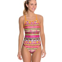 The Finals Funnies Happiness Female Wing Back One Piece Swimsuit at SwimOutlet.com
