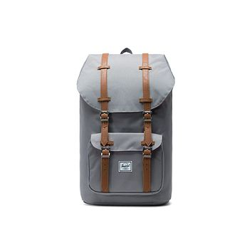 Herschel Supply Co. - Little America Grey Tan Synthetic Leather Backpack