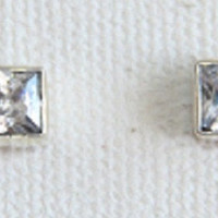 Sterling Silver Cubic Zirconia Stud Earrings, Womens Girls Earri