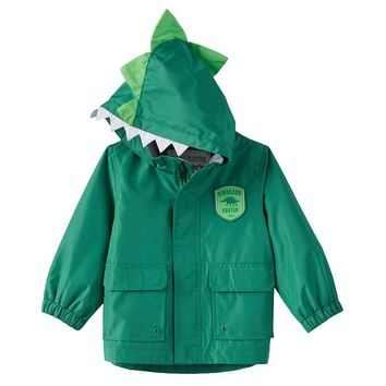 Carter's ''Dinosaur Hunter'' Hooded Rain Jacket - Baby Boy, Size: