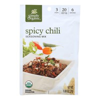 Simply Organic Spicy Chili Seasoning Mix - Case Of 12 - 1 Oz.