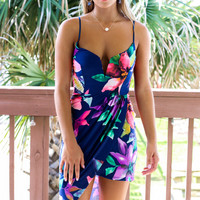 Lost In Love Navy Floral Dress