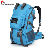 40L Internal Frame Climbing Bag Waterproof Terylene Material Unisex Travel Camping Sport Outdoor Backpack has the Rain Cover