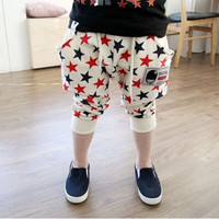 Toddler Girls Stars Pattern Harem Pants Cotton Trousers Collapse Pants Bottoms NW