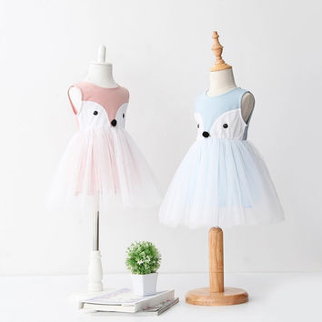 Pink Fox tulle dress - 5 sizes