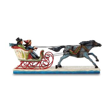 Jim Shore Victorian Couple In Sleigh Figurine