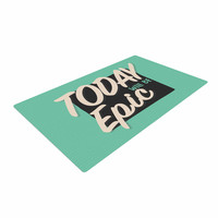 """Juan Paolo """"Epic Day"""" Vintage Teal Woven Area Rug"""