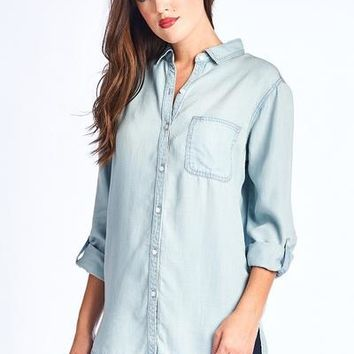 Denim Blues Button Down Tunic
