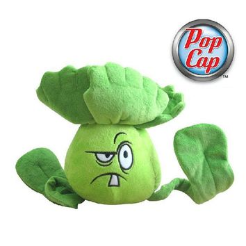 Star Product 12inch 30cm Lovely Plant Vs Zombies PopCap Bonk Choy Plush Toys,1pcs/pack