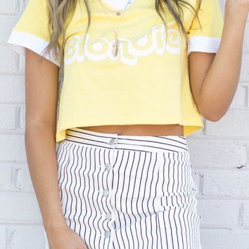 Cool On You White & Black Stripe Skirt