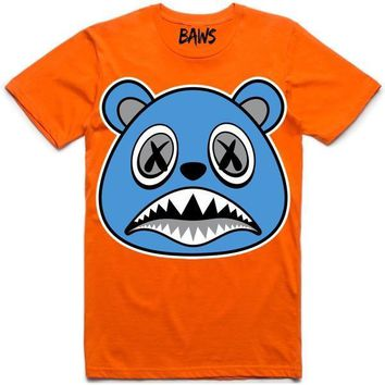 UNC BAWS Orange Sneaker Tees Shirt