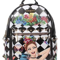"""LILY LOVES TO SHAKE"" PRINT BACKPACK WITH LAPTOP COMPARTMENT"