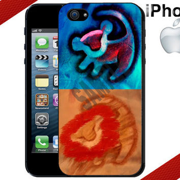 Lion King Simba and Mufasa iPhone Case  iPhone 5 by CrazianDesigns