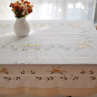 70X105 inches ,Handmade Hemstitched Embroidered  Huge Tablecloths,