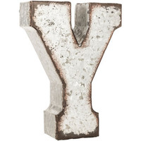 Galvanized Metal Letter W or X or Y or Z/Metal Letter/7 inch /Wall Letter/Small Metal Letter/Wedding Decor/Rustic/Wall Letter/Shelf Letter