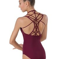 Macrame Strappy Back Pinch-Front Leotard | Balera™