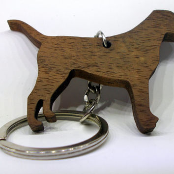 For all Dog Lovers Walnut Labrador Dog Keychain!