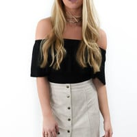 Cross My Heart Sand Mini Skirt
