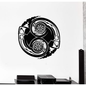 Wall Decal Garage Car Turbine Repair Service for Men Vinyl Stickers Mural Unique Gift (ig2929)
