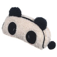 KINGSO Panda Soft Plush Pencil Case Pen Pocket Cosmetic Makeup Bag Pouch Gift