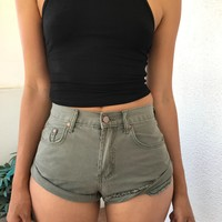 EVELYN SHORTS- OLIVE