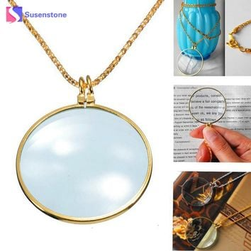 2017 New Magnifier Pendant Necklace Magnify Glass Reeding Decorativ Monocle Necklace Vintage Women Chain Jewelry Accessories