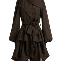 Imagined Adventures Coat in Flecked Mocha | Mod Retro Vintage Coats | ModCloth.com