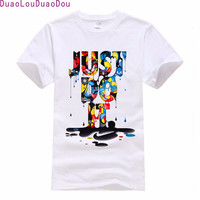 JUST DO IT Letter Printed T shirts For Man women Design Tee Shirts Short Cotton T-shirts Fashion Style Summer Brand Top
