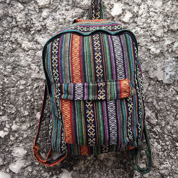 36f68a4f2b Big Boho Tribal Backpack Hobo Aztec Ethnic Hippies Ethnic Styles Hobo  Tapestry Bags Hipster Native Pattern