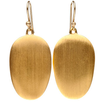 Ted Muehling 24K Gold Vermeil Chip Earrings