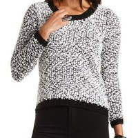 Popcorn Knit High-Low Sweater by Charlotte Russe