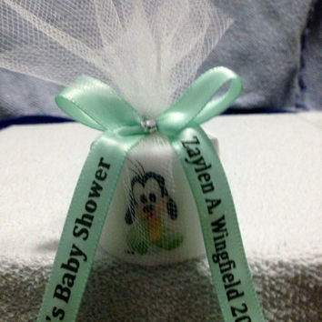 10 Baby Goofy Like Baby Shower Favors, Its A Girl Favor, Shower Favors, Baptism , Holy Communition Favors, Votive With Personalized Ribbon