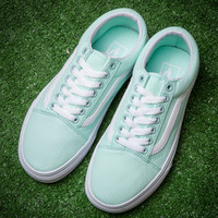VANS Peppermint Green Classic low back casual shoes