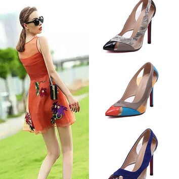 Hollow Out High Heel Pointed Toe Shoes = 4814741508