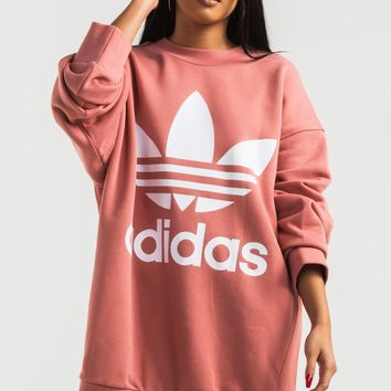 adidas ADC Longline Relaxed Fit Crew Neck Sweatshirt in Rawpin