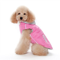 City Puffer Dog Coat - Pink