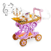 Disney Store Beauty and the Beast ''Be Our Guest'' Singing Tea Cart Play Set New