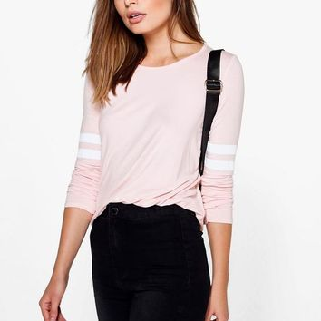 Shona Baseball Long Sleeve Top | Boohoo