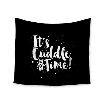 "Nick Atkinson ""Cuddle Time"" Black White Wall Tapestry"