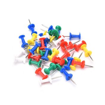 80Pcs Multi Color Push Pins For Wooden Framed Cork Pin Notice Memo Board Display Board School Stationery Supplies