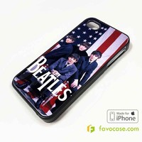 THE BEATLES 2 Band John Lennon iPhone 4/4S 5/5S/SE 5C 6/6S 7 8 Plus X Case Cover