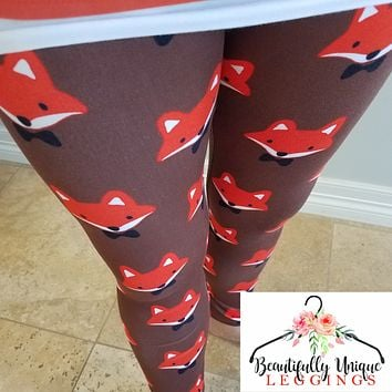 Mister Fox Bow Tie Leggings (Exclusive Color)