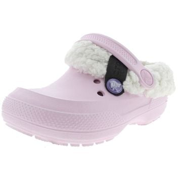 Crocs Girls Classic Blitzen II  Faux Fur Casual Clogs